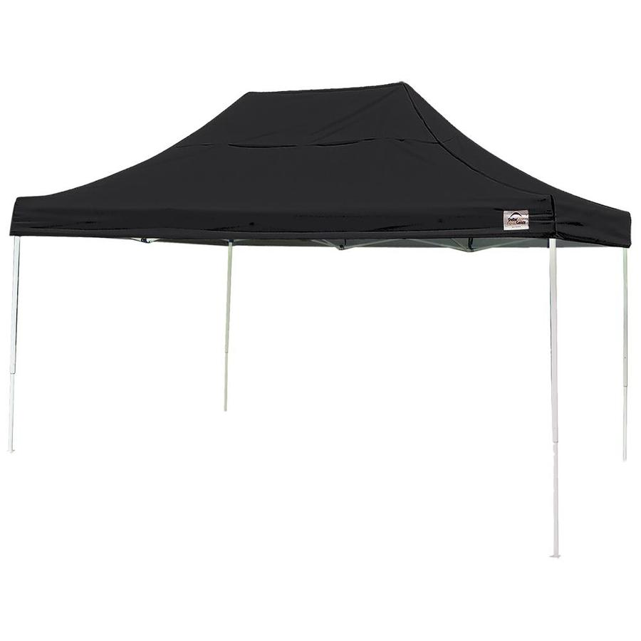 ShelterLogic 10-ft W x 15-ft L Rectangle Black Steel Pop-up Canopy