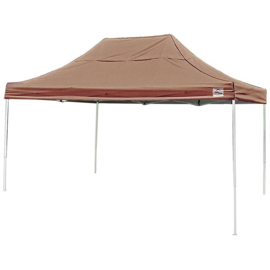 ShelterLogic 10-ft W x 15-ft L Rectangle Desert Bronze Steel Pop-up Canopy