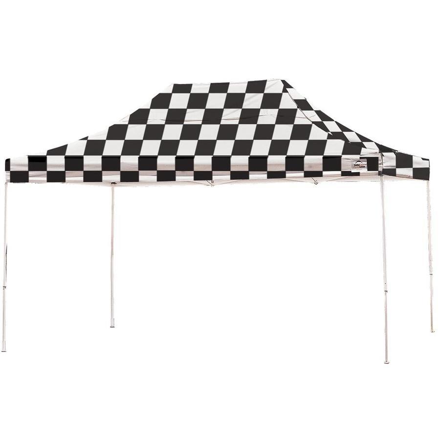 ShelterLogic 10-ft W x 15-ft L Rectangle Black/White Steel Pop-up Canopy