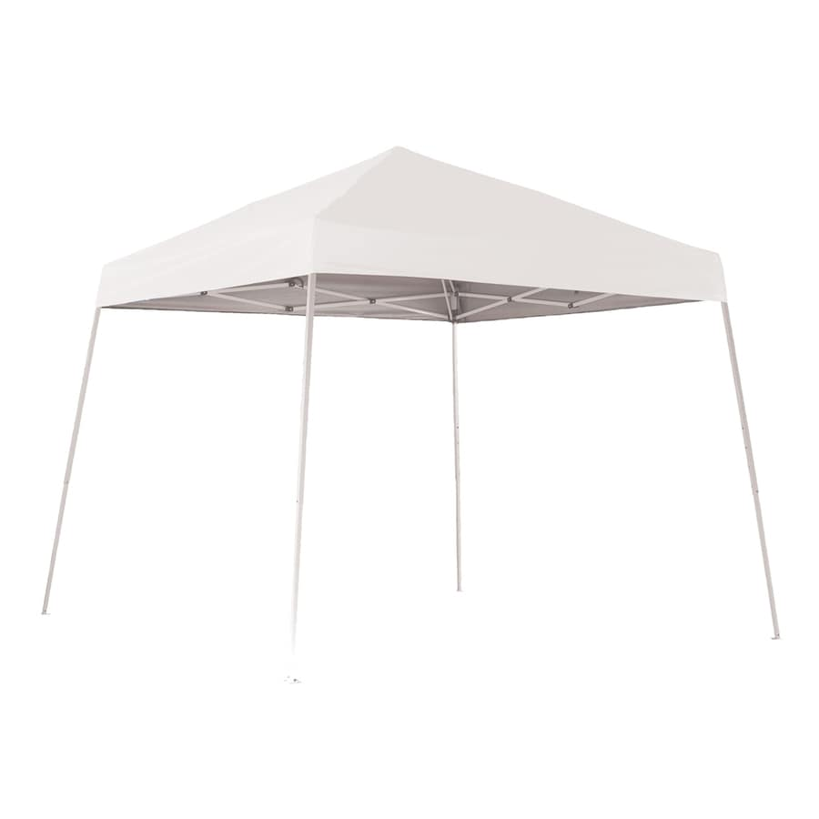 ShelterLogic Pop Up Canopy 10-ft W x 10-ft L Square White Steel Pop-up Canopy