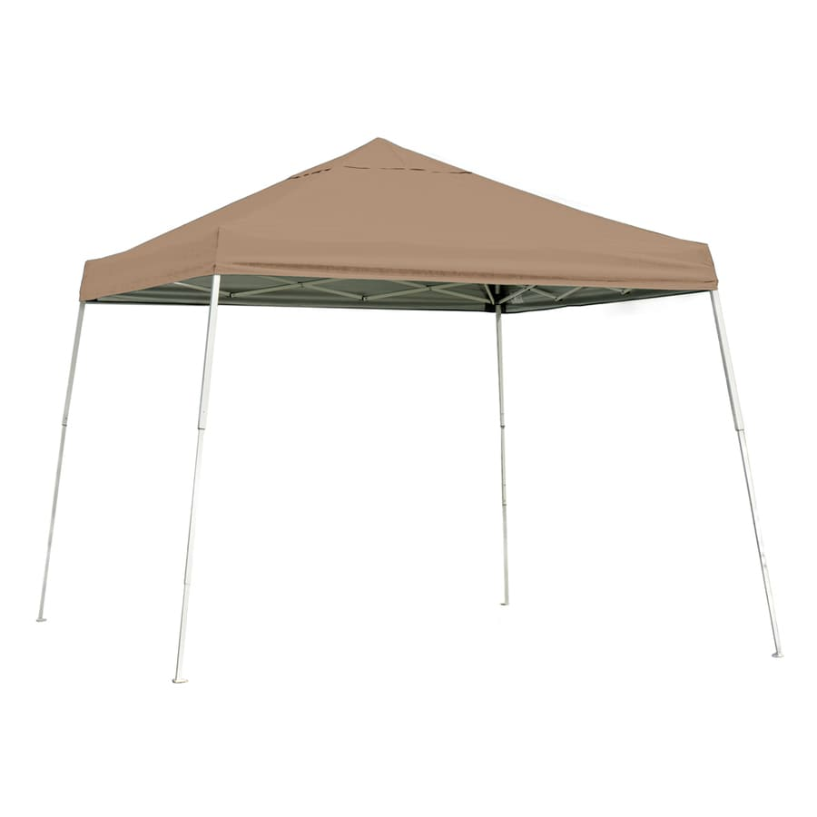 ShelterLogic 10-ft W x 10-ft L Tan Steel