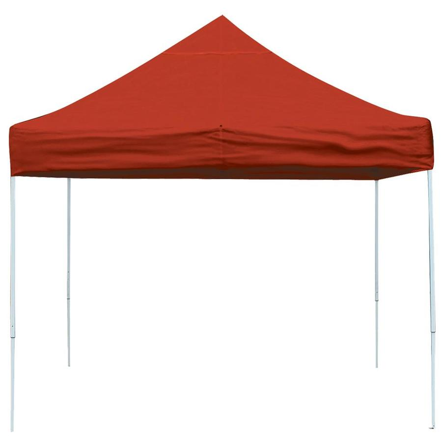 ShelterLogic 10-ft W x 10-ft L Square Red Steel Pop-up Canopy