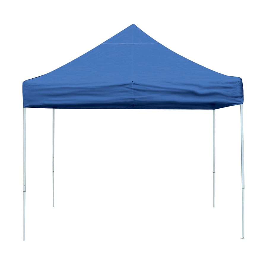 ShelterLogic 10-ft W x 10-ft L Blue Steel