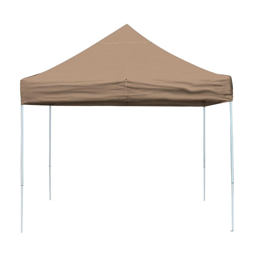 ShelterLogic Pop Up Canopy 10-ft W x 10-ft L Square Tan Steel Pop-up Canopy