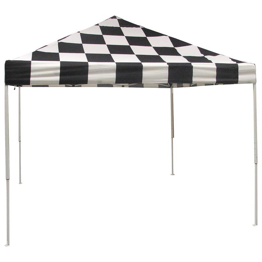 ShelterLogic 10-ft W x 10-ft L Square Black/White Steel Pop-up Canopy