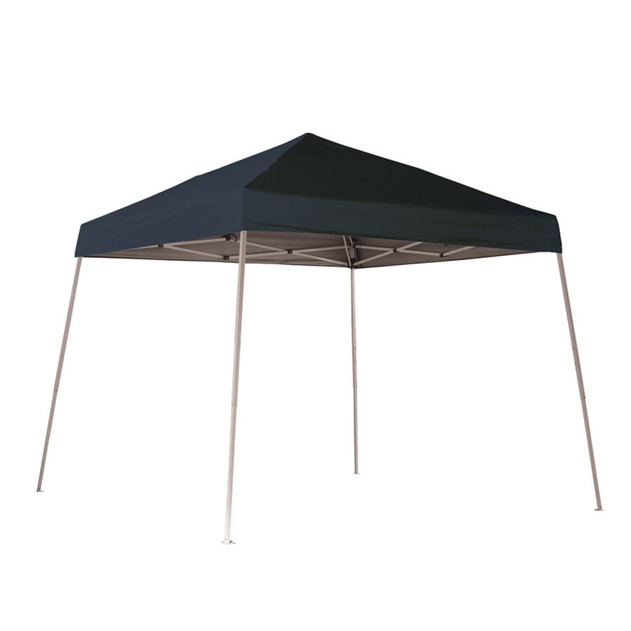 ShelterLogic 10-ft W x 10-ft L Square Black Steel Pop-up Canopy
