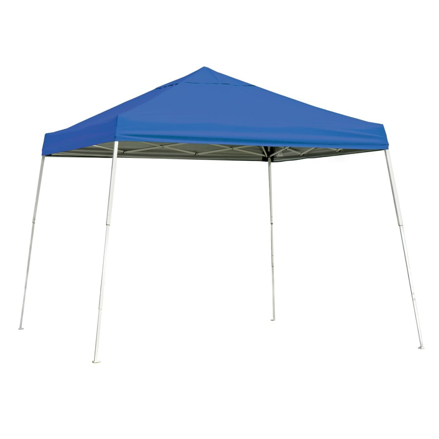 ShelterLogic Pop Up Canopy 10-ft W x 10-ft L Square Blue Steel Pop-up Canopy