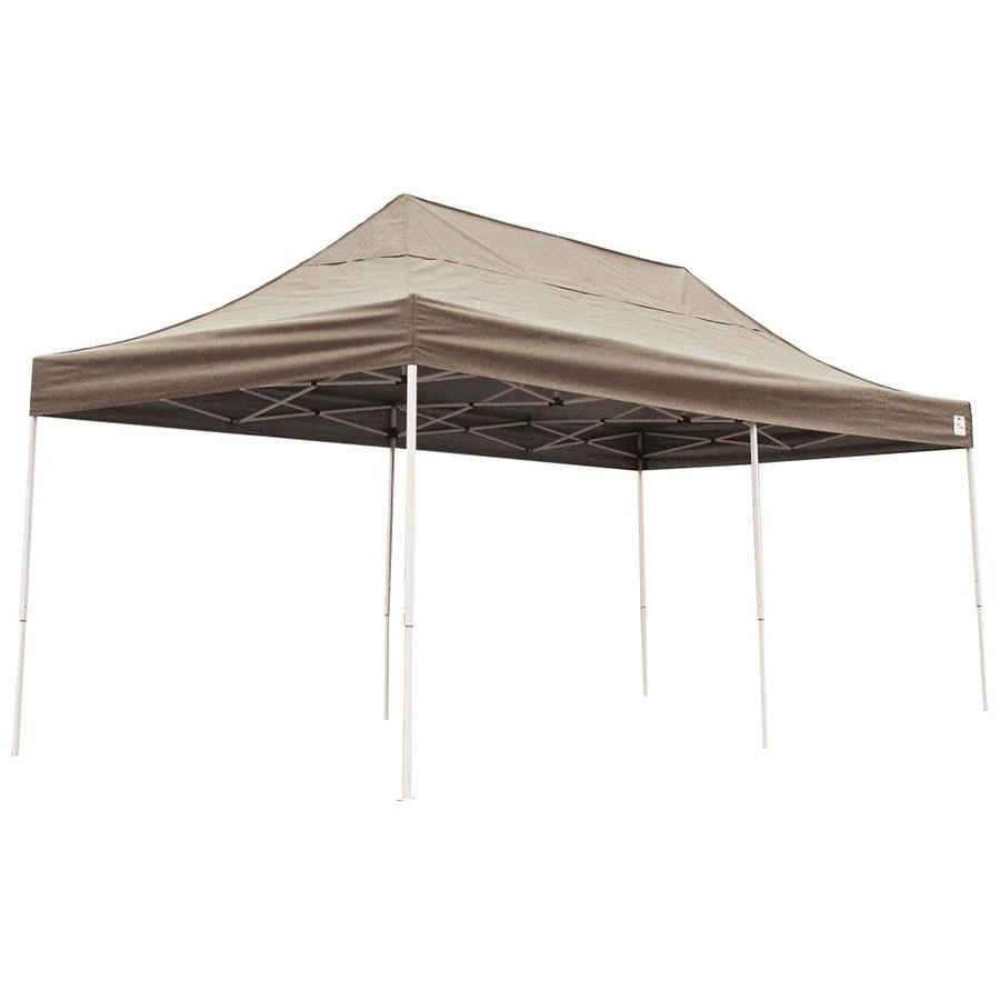 ShelterLogic 10-ft W x 20-ft L Rectangle Tan Steel Pop-Up Canopy