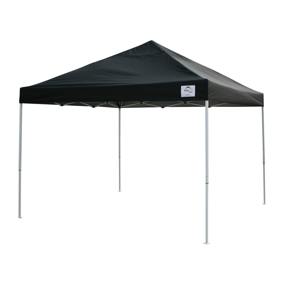 ShelterLogic Pop Up Canopy 10-ft W x 10-ft L Square Black Steel Pop-up Canopy
