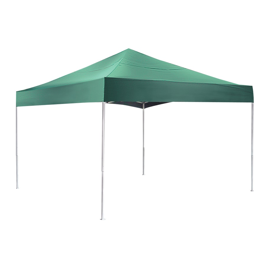 ShelterLogic Pop Up Canopy 12-ft W x 12-ft L Square Green Steel Pop-up Canopy