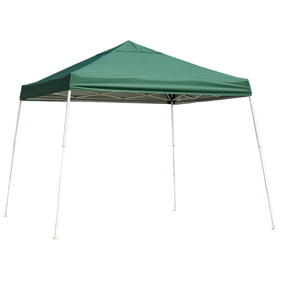 ShelterLogic 12-ft W x 12-ft L Square Green Steel Pop-up Canopy