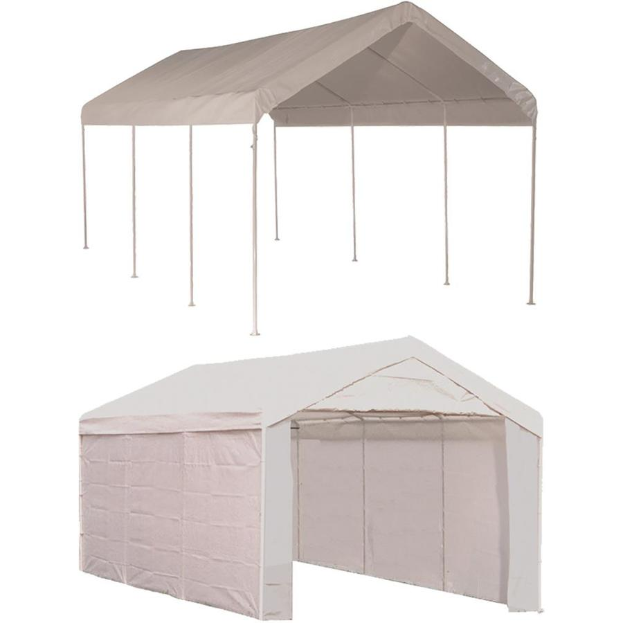 ShelterLogic 10 Ft X 20 Ft Polyethylene Canopy Storage Shelter