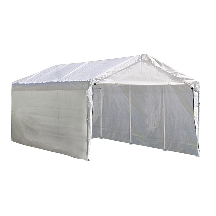 ShelterLogic 10 Ft X 20 Polyethylene Canopy Storage Shelter