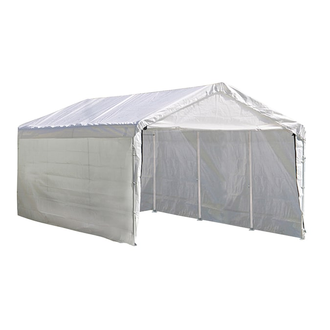 Shelterlogic 10 Ft X 20 Ft Polyethylene Canopy Storage Shelter In The Canopy Storage Shelters Department At Lowes Com