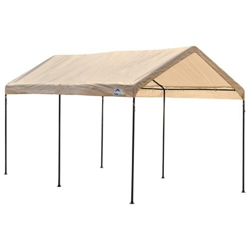 Shelterlogic 10 Ft X 20 Polyethylene Canopy Storage Shelter At Lowes
