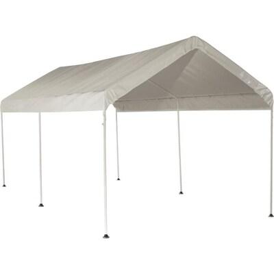 ShelterLogic 9 97-ft L Rectangle White Standard Canopy at