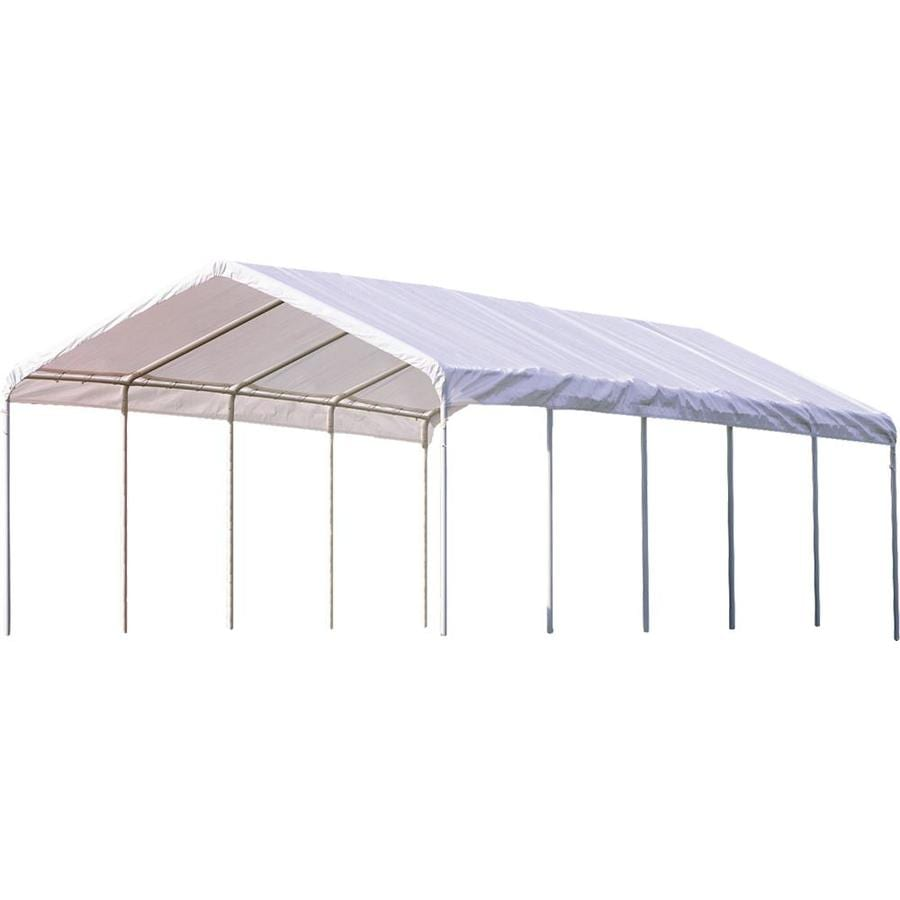 ShelterLogic 12-ft W x 30-ft L Rectangle White Steel Pop-up Canopy