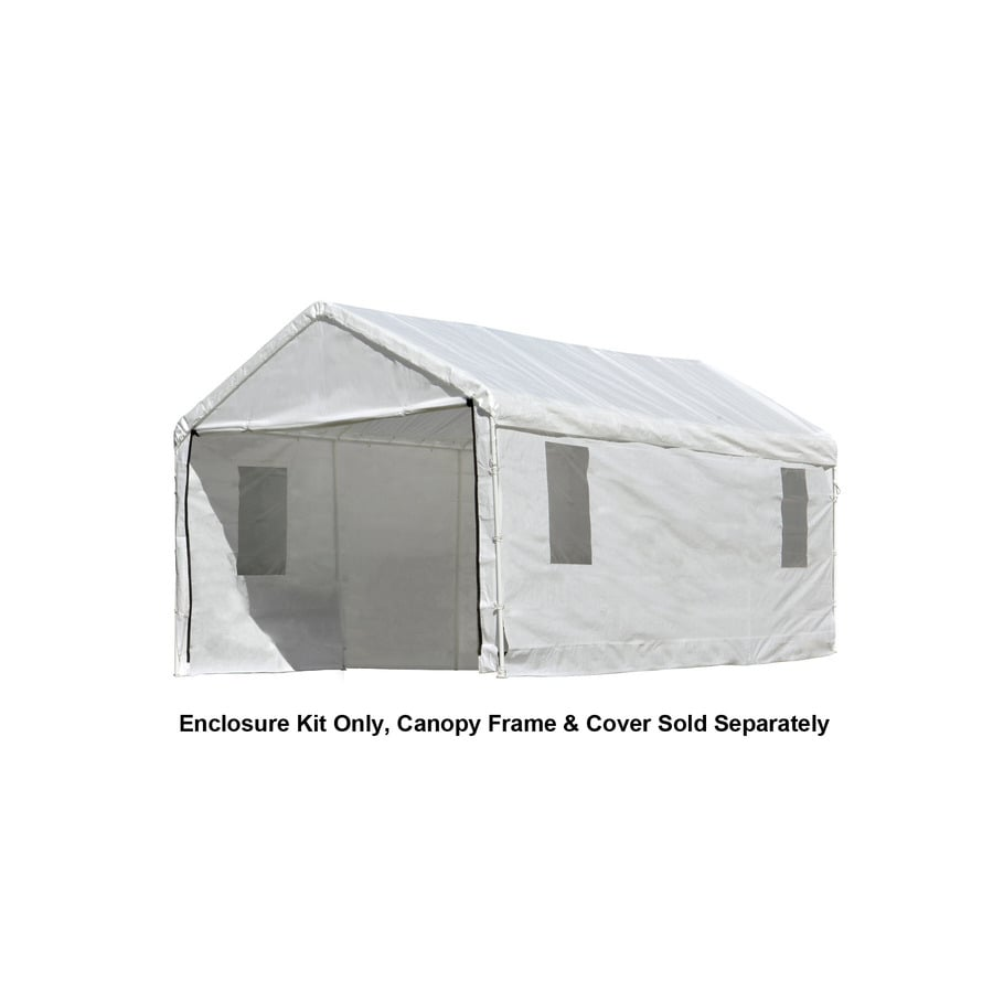 ShelterLogic White Polyethylene Storage Shed Enclosure Kit  sc 1 st  Loweu0027s : storage canopy sheds - memphite.com