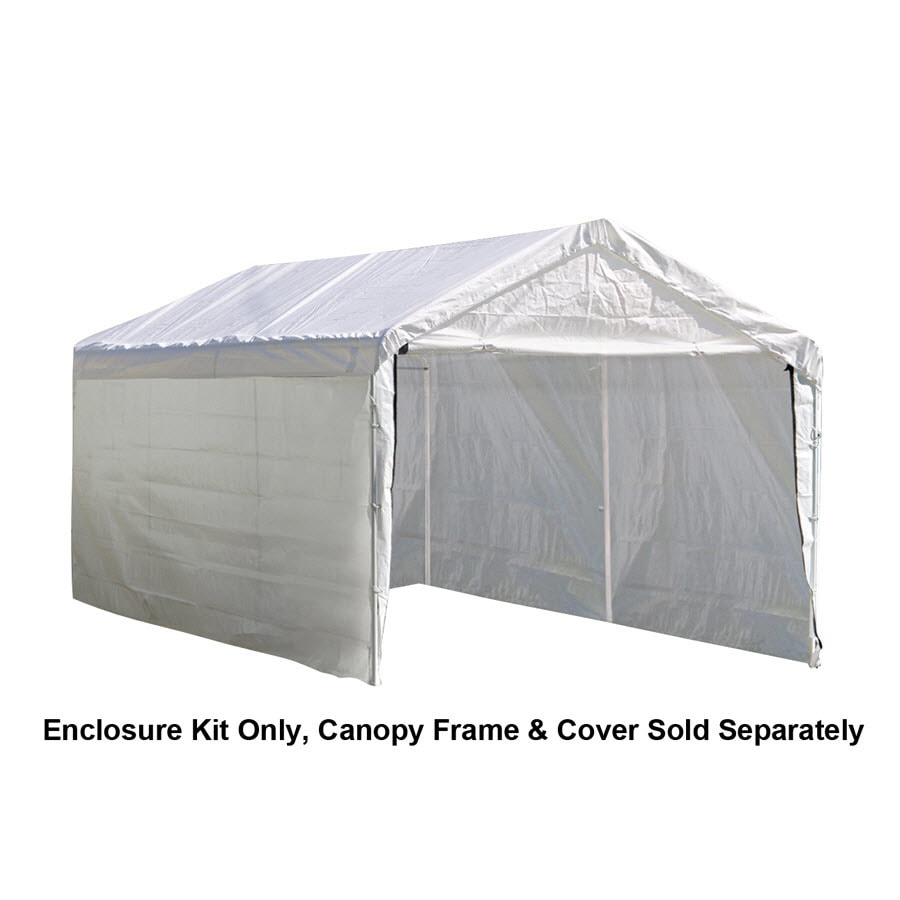 ShelterLogic White Polyethylene Storage Shed Enclosure Kit