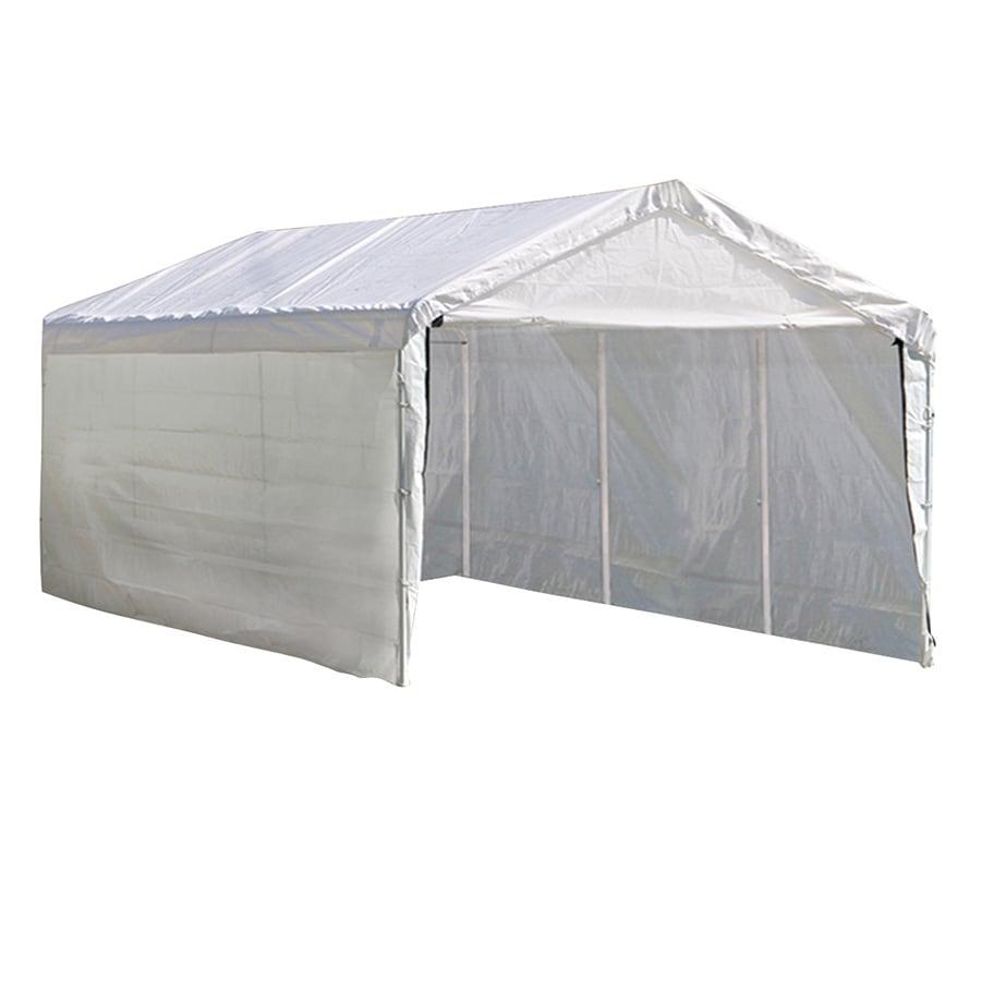 Shop ShelterLogic 12-ft x 20-ft Polyethylene Canopy Storage Shelter ...