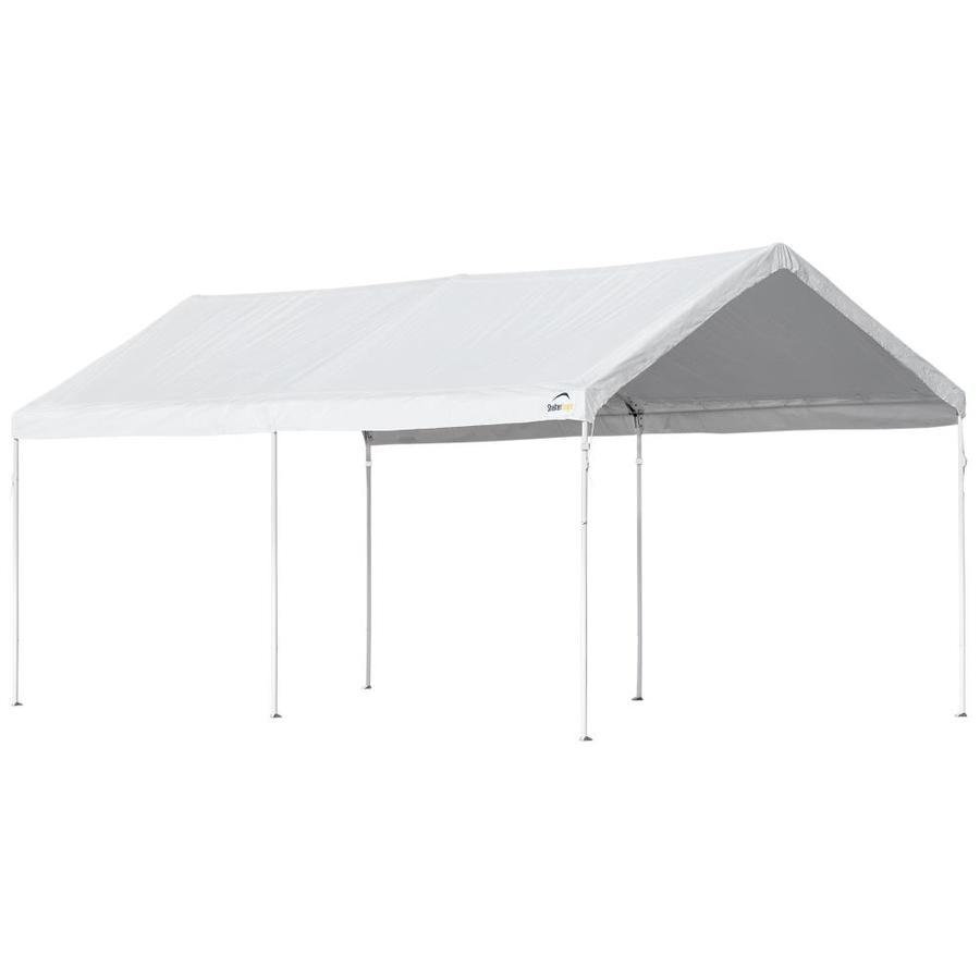 ShelterLogic AccelaFrame 10.31-ft W x 19.96-ft L Rectangle White Steel Standard Canopy  sc 1 st  Loweu0027s & Shop Canopies u0026 Accessories at Lowes.com