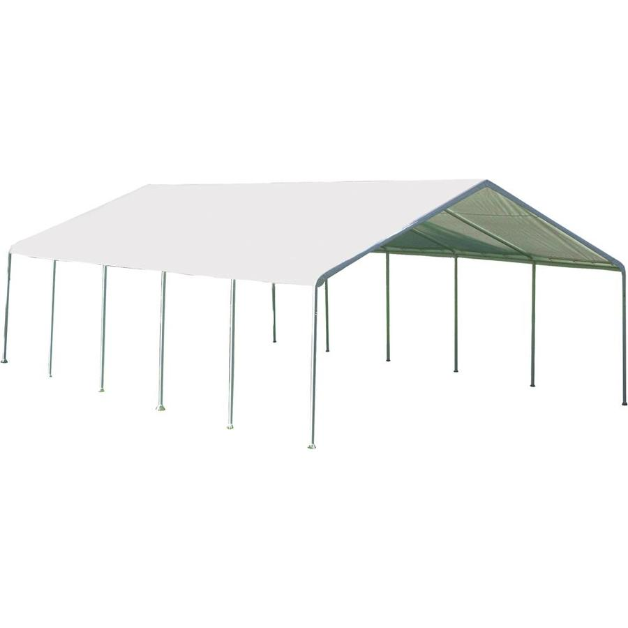 ShelterLogic Standard Canopy 18-ft W x 30-ft L White Steel Rectangle  sc 1 st  Loweu0027s & Shop Canopies at Lowes.com