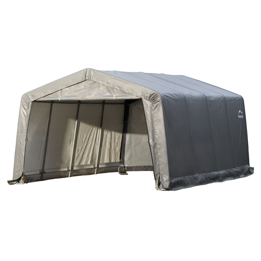 ShelterLogic 12-ft x 16-ft Polyethylene Canopy Storage Shelter  sc 1 st  Loweu0027s & Shop Canopy Storage Shelters at Lowes.com