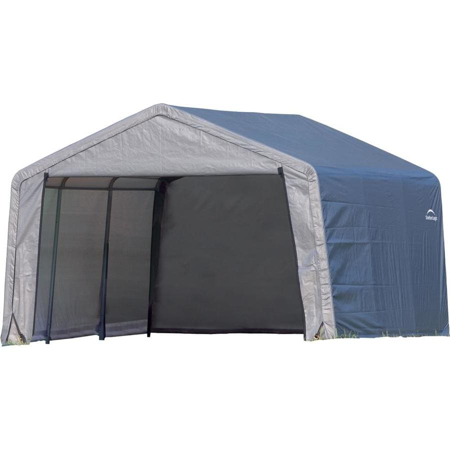 ShelterLogic 12-ft x 12-ft Polyethylene Canopy Storage Shelter  sc 1 st  Loweu0027s & Shop Canopy Storage Shelters at Lowes.com