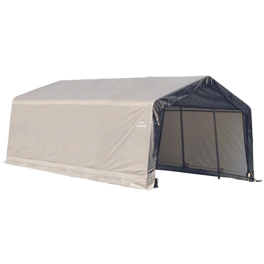 ShelterLogic 12-ft x 20-ft Polyethylene Canopy Storage Shelter