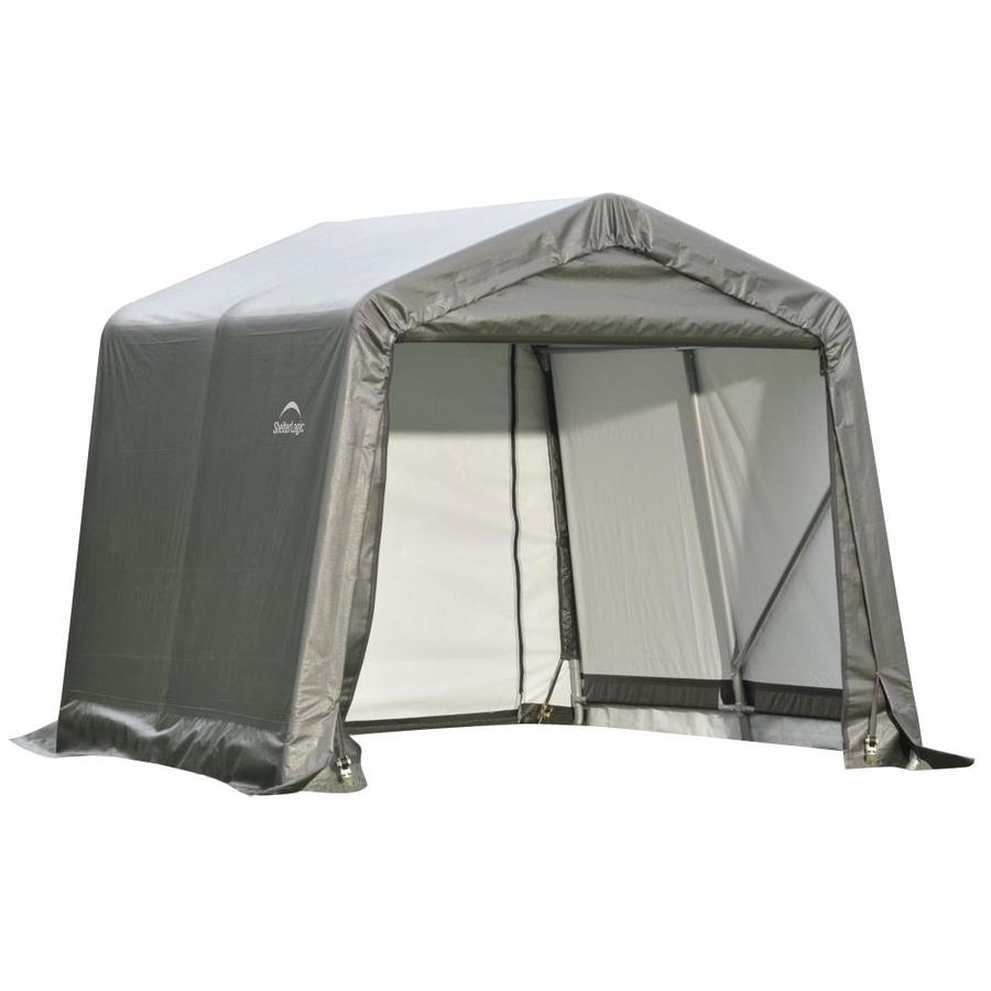 ShelterLogic 8-ft x 8-ft Polyethylene Canopy Storage Shelter