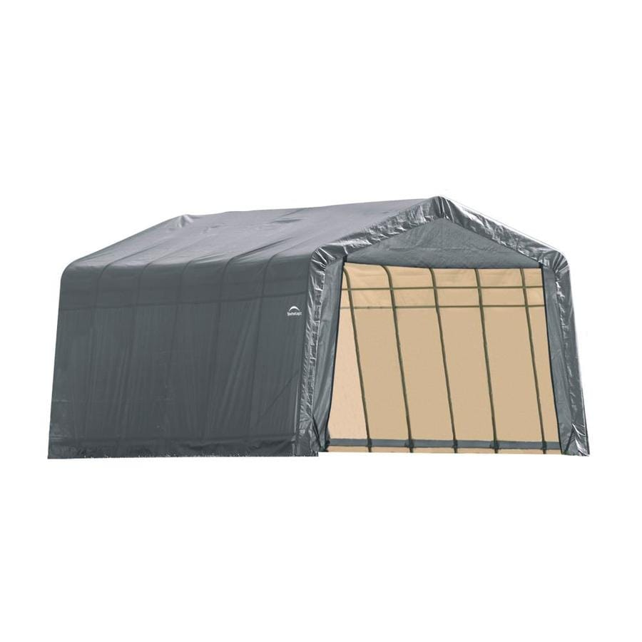 ShelterLogic (Common: 12-ft x 24-ft; Actual: 12-ft x 24-ft) Metal Single Car Garage Building