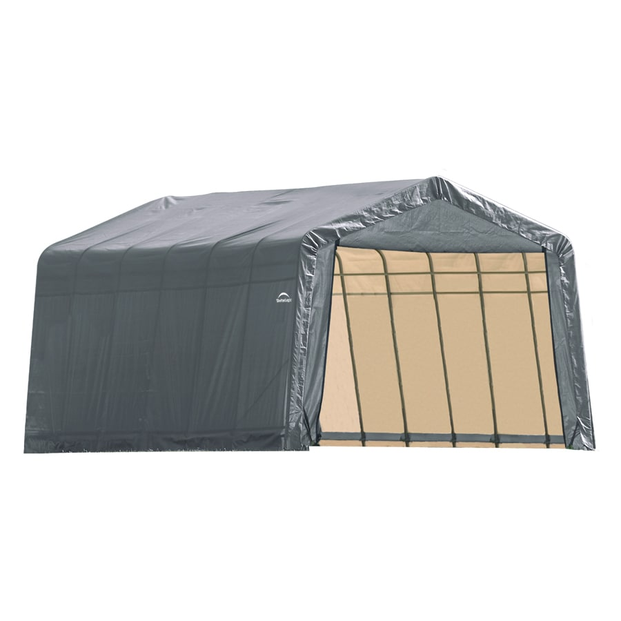 ShelterLogic (Common: 13-ft x 24-ft; Actual: 13-ft x 24-ft) Metal Single Car Garage Building