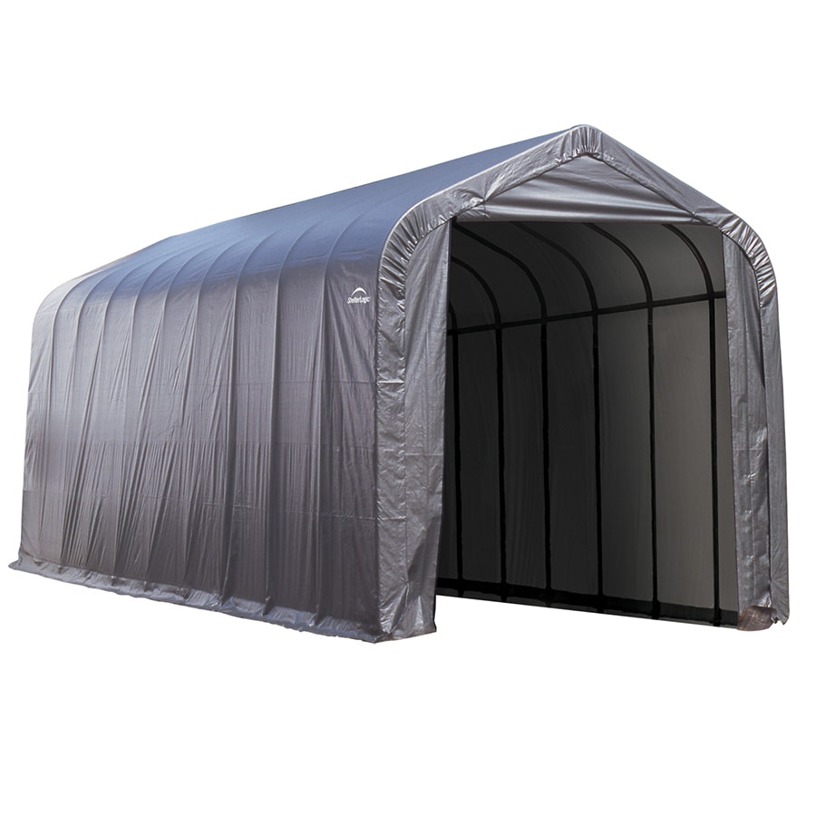 ShelterLogic Metal Single Car Garage Building (Common: 15-ft x 40-ft; Actual: 15-ft x 40-ft)