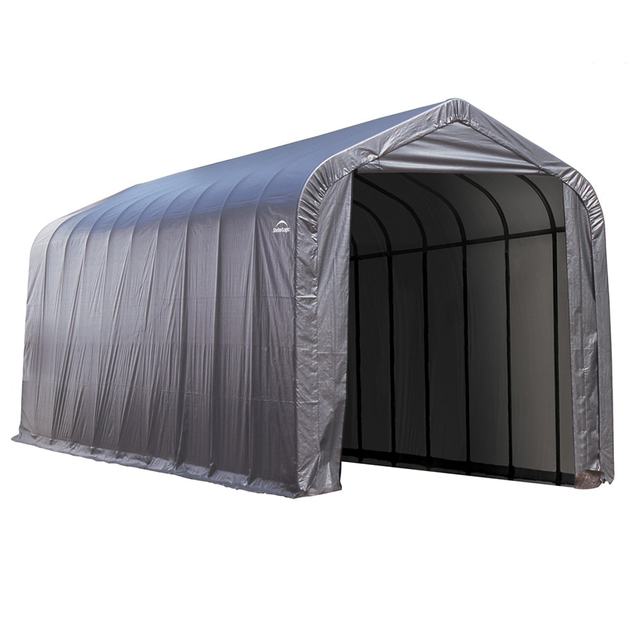 ShelterLogic (Common: 15-ft x 44-ft; Actual: 15-ft x 44-ft) Metal Single Car Garage Building