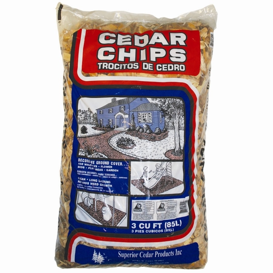 3 Cu Ft Brown 100 Cedar Chips