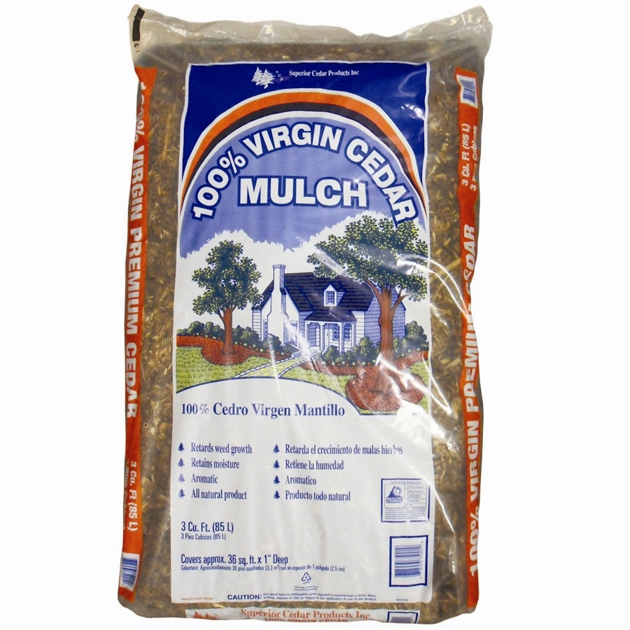 Superior Cedar Products 3-cu ft Brown Cedar Mulch