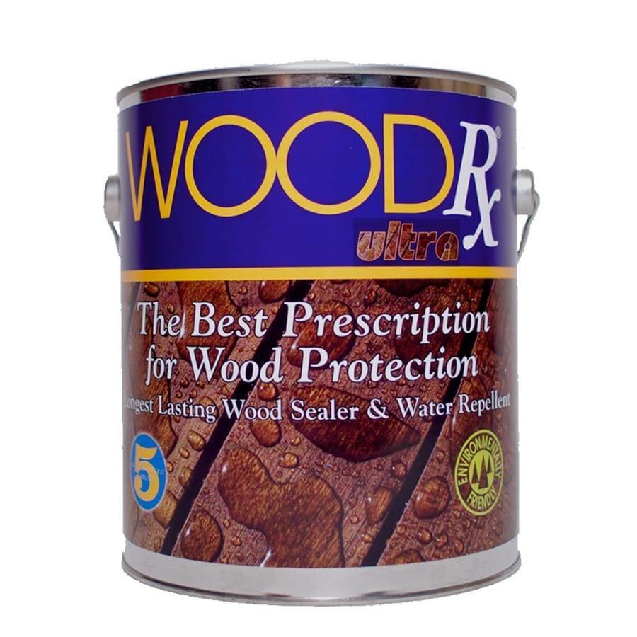 WoodRx Pre-Tinted Mahogany Semi-Transparent Exterior Stain (Actual Net Contents: 128-fl oz)