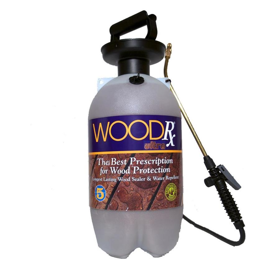 WoodRx Pre-Tinted Mahogany Semi-Transparent Exterior Stain (Actual Net Contents: 256-fl oz)