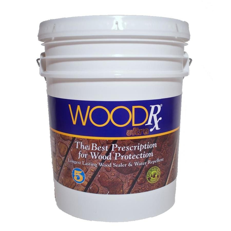 WoodRx Pre-Tinted Walnut Semi-Transparent Exterior Stain (Actual Net Contents: 640-fl oz)