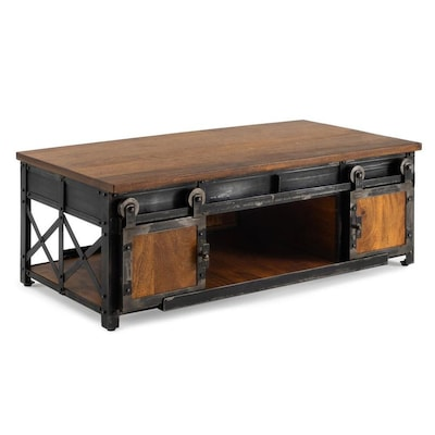 Rst Brands Carnegie Industrial Coffee Table Brown Constructed Of