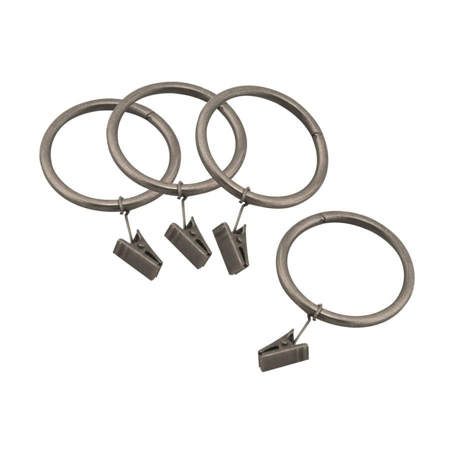 allen + roth 10-Pack Pewter Curtain Rings
