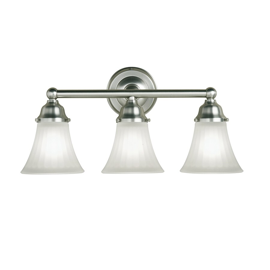 Shop Portfolio 3-Light Vassar Brushed Nickel Bathroom Vanity Light ...