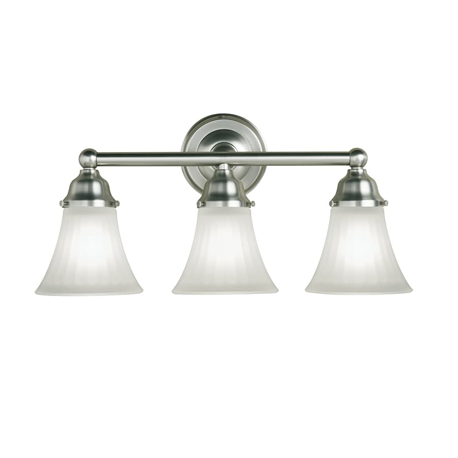 Shop Portfolio Light Vassar Brushed Nickel Bathroom Vanity Light - Bathroom vanity lights for sale