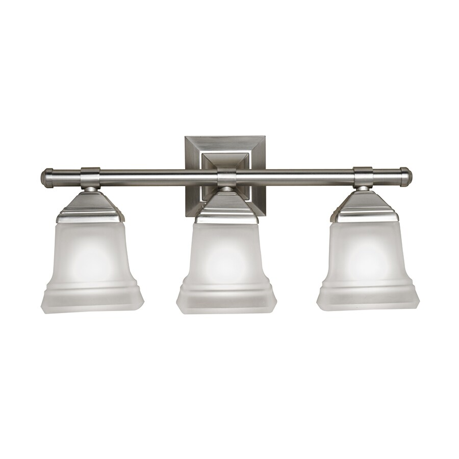 Portfolio 3 Light Trent Brushed Nickel Bathroom Vanity Light. Shop Portfolio 3 Light Trent Brushed Nickel Bathroom Vanity Light