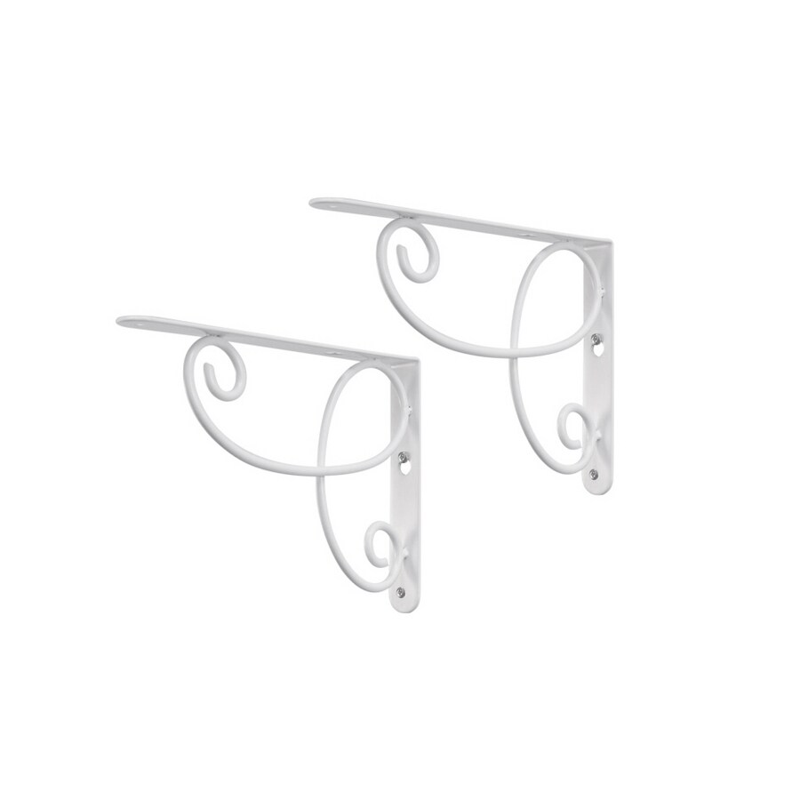 Real Organized Steel 9-in x 6-1/2-in White Decorative Shelf Bracket