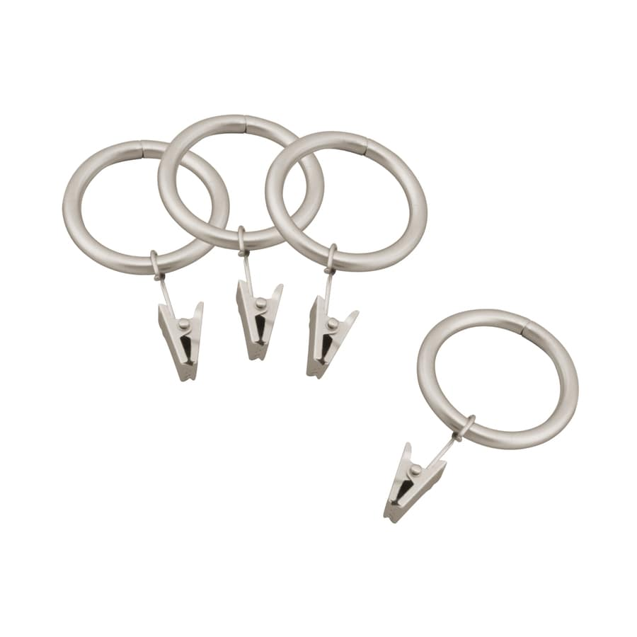 Style Selections Style Selections 7-Pack 1-in Nickel Steel Curtain Rings