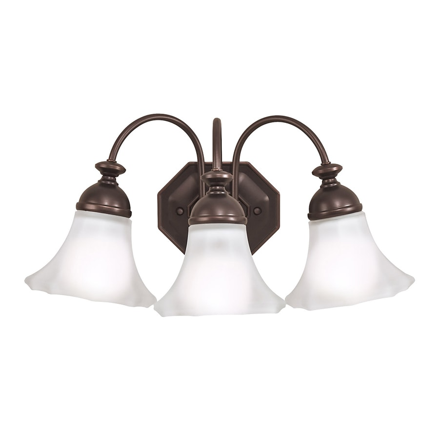 shop portfolio 3 light bloom rubbed bronze bathroom 26516