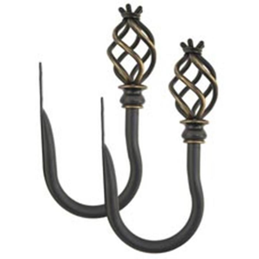 allen + roth 2-Pack Aged-Bronze Stainless Steel Curtain Holdbacks