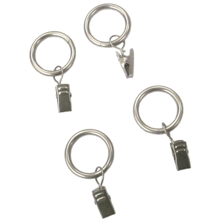 Style Selections Style Selections 7-Pack 1-in Specialty-Nickel Steel Curtain Rings