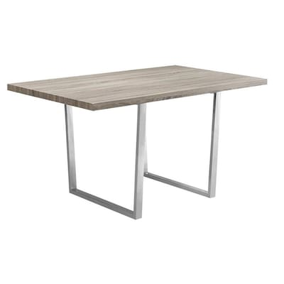 Dark Taupe Reclaimed Wood Look Composite Dining Table